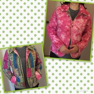 NEW! Reversible Jacket , Pink,Green, Blue & Yellow